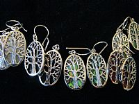 Photo 11 of our Oval Tree of Life silver earrings