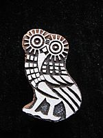 Little owl printing block