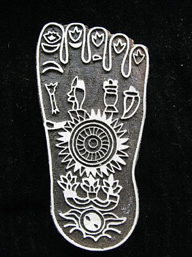 Photo of our Decorated footprint printing block