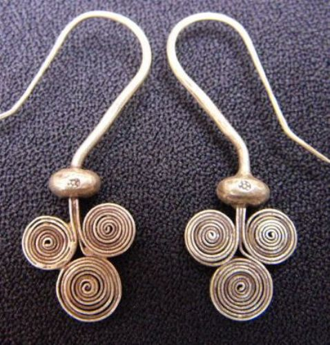 Photo of our Triple spirals silver earrings