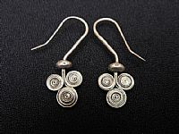 Photo 2 of our Triple spirals silver earrings