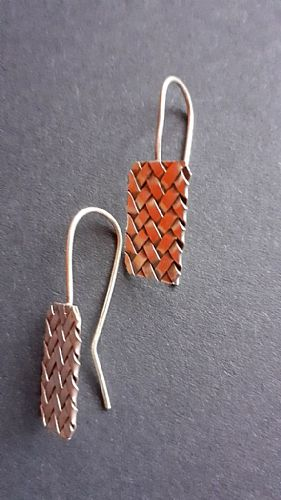 Photo of our Silver woven earrings