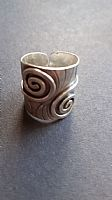 Photo of our Double spiral wide silver ring