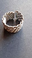 Photo of our Woven basketwork silver ring