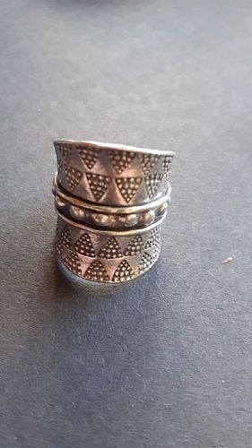 Photo of our Very wide tribal silver ring