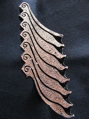 Photo of our Lovely wave copper stamp
