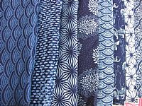 Photo 6 of our Cotton Indigo Print. Scattered leaves design