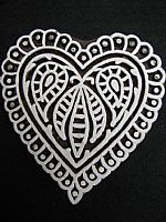 Decorative heart printing block