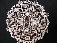 Photo 1 of our Fabulous Mandala design printing block