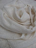 Photo of our Unbleached cotton scarf