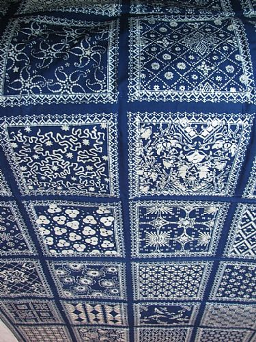 Photo of our Blue and white sampler cloth