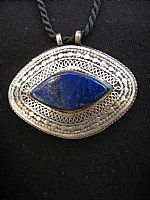 Photo of our Afghan Oval Lapis pendant
