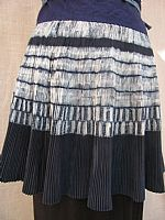 Dark Indigo pleated batik skirt
