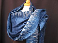 Photo 5 of our Indigo woven shawl 3