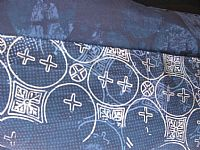 Photo 8 of our Fine batik silk scarf in shades of blue