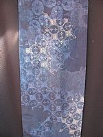 Photo 11 of our Fine batik silk scarf in shades of blue