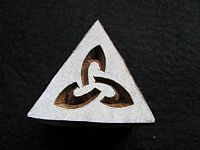 Photo 2 of our Knot triangle printing block