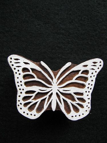 Photo of our Lacy Butterfly printing block