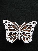 Lacy Butterfly printing block
