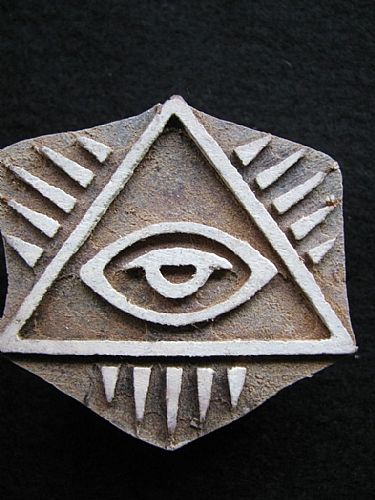 Photo of our Pyramid eye printing block