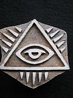 Pyramid eye printing block
