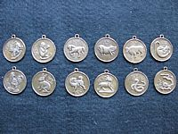 Photo 4 of our Set of 12 Chinese horoscope pendants