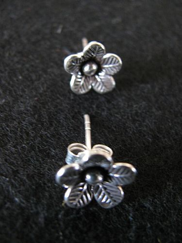 Photo of our Silver flower studs
