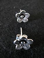 Photo 4 of our Silver flower studs