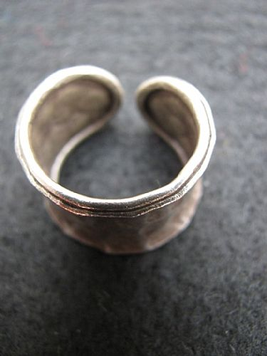 Photo of our Chunky beaten silver ring