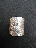 Photo 3 of our Floral wide silver ring