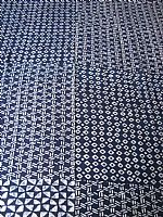 Indigo rayon fabric (diamonds and triangles)