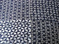 Photo 6 of our Indigo rayon fabric (diamonds and triangles)