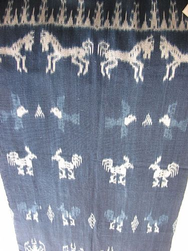 Photo of our Indigo ikat from Sumba
