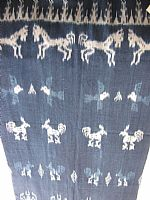 Indigo ikat from Sumba