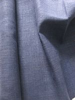 Plain indigo hemp fabric