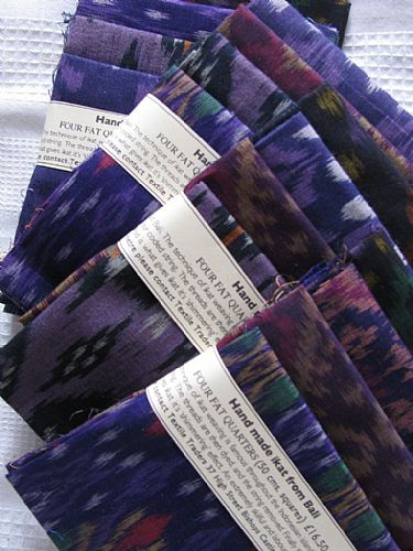 Photo of our Purple ikat 4 fat quarters