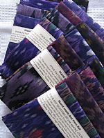 Photo 1 of our Purple ikat 4 fat quarters