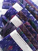 Photo 2 of our Purple ikat 4 fat quarters