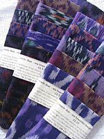 Purple ikat sample set