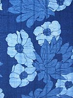 Cotton Indigo Print. Poppy Design