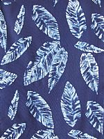 Photo 8 of our Cotton Indigo Print. Scattered leaves design