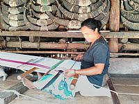 Photo 8 of our Sumba Village Festival ikat cloth (XL)
