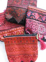 Photo of our Hilltribe cross stitch purse