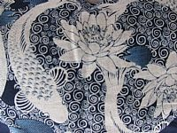Photo 4 of our Japanese indigo print bag