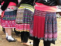 Photo 3 of our Embellished H'mong woman's skirt