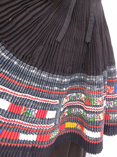 Photo of our Embellished H'mong woman's skirt