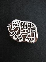 Little elephant printing block