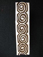 Photo 1 of our 5 spirals border printing block
