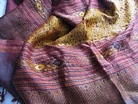 Photo 3 of our Laos silk brocade shawl