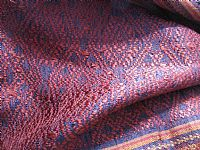 Photo 4 of our Laos silk brocade shawl